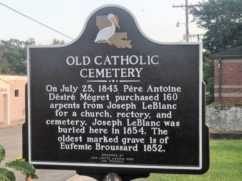 Old Catholic Cemetery Marker image. Click for full size.
