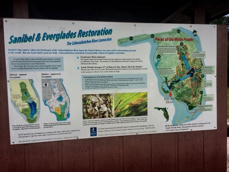 Sanibel & Everglades Restoration Marker image. Click for full size.