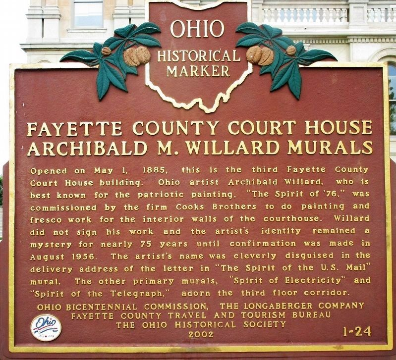 Fayette County Court House Marker image. Click for full size.