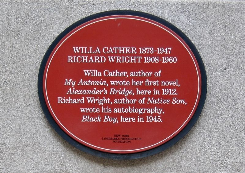 Willa Cather and Richard Wright Marker image. Click for full size.