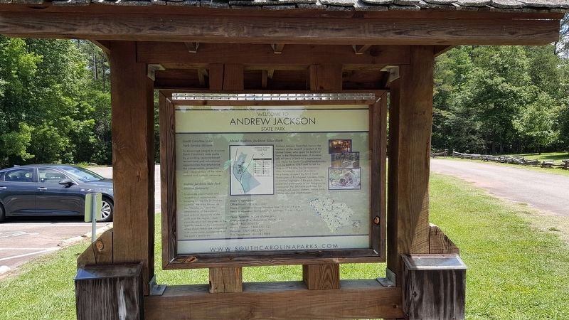 Welcome to Andrew Jackson State Park Marker image. Click for full size.
