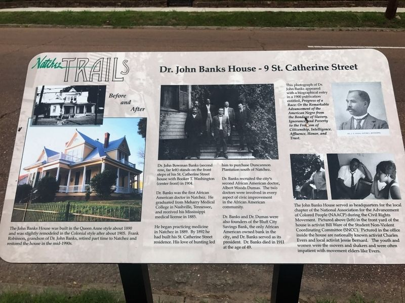 Dr. John Banks House - 9 St. Catherine Street Marker image. Click for full size.