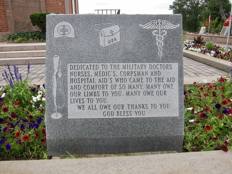 Military Medical Personnel Memorial Marker image. Click for full size.