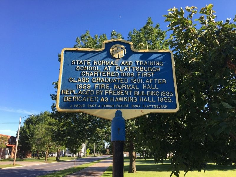 State Normal School Marker image. Click for full size.