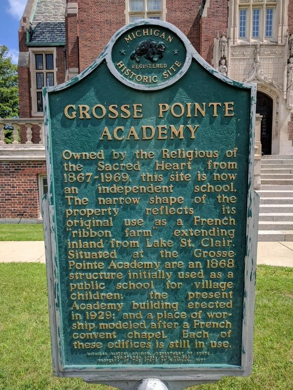 Grosse Pointe Academy Marker image. Click for full size.