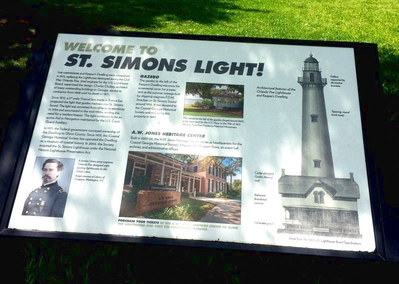 Welcome to St. Simons Light Marker image. Click for full size.