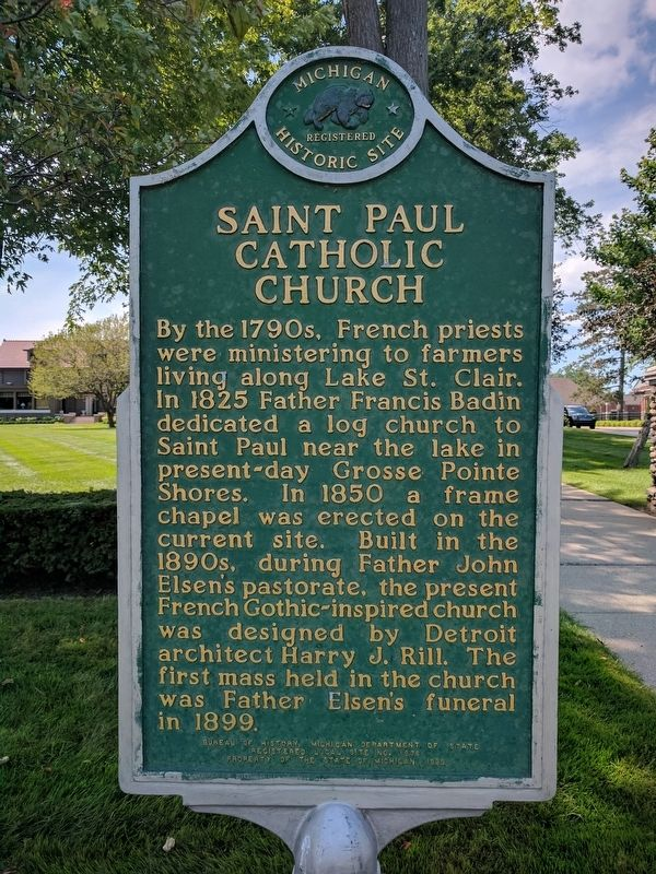 Saint Paul Catholic Church Marker - Side 1 image. Click for full size.