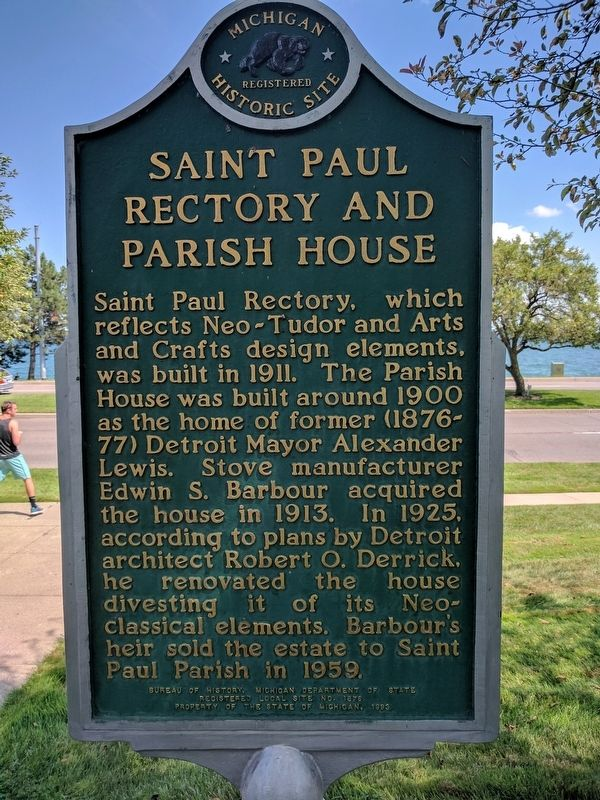 Saint Paul Rectory and Parish House Marker - Side 2 image. Click for full size.