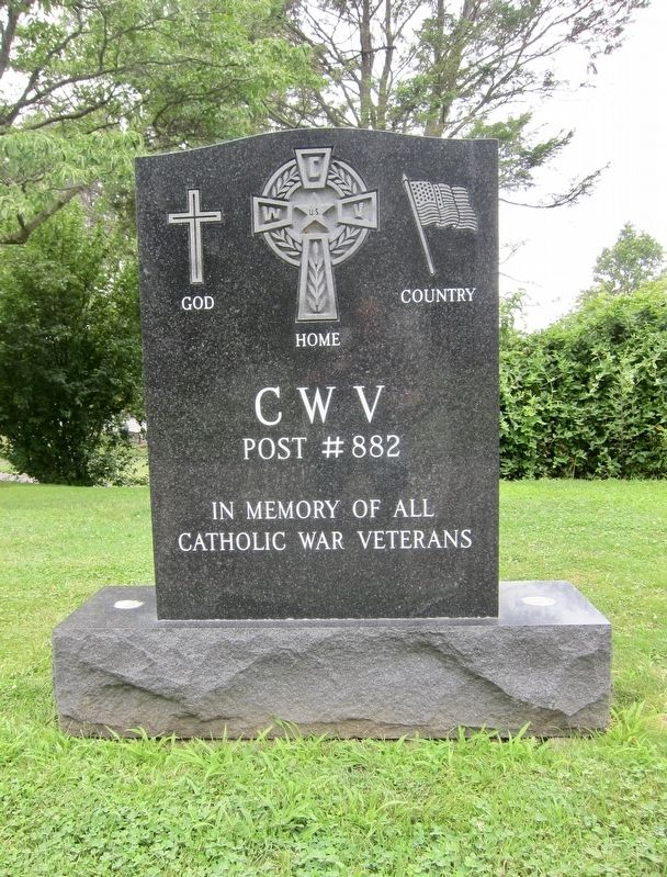 Catholic War Veterans Memorial Marker image. Click for full size.