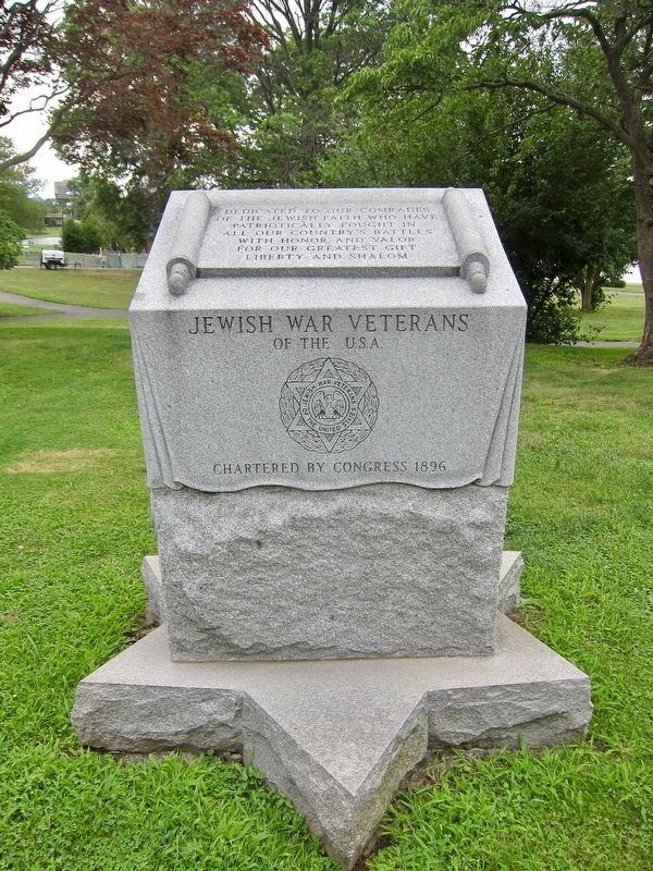 Jewish War Veterans Memorial Marker image. Click for full size.