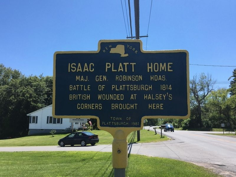 Isaac Platt Home Marker image. Click for full size.