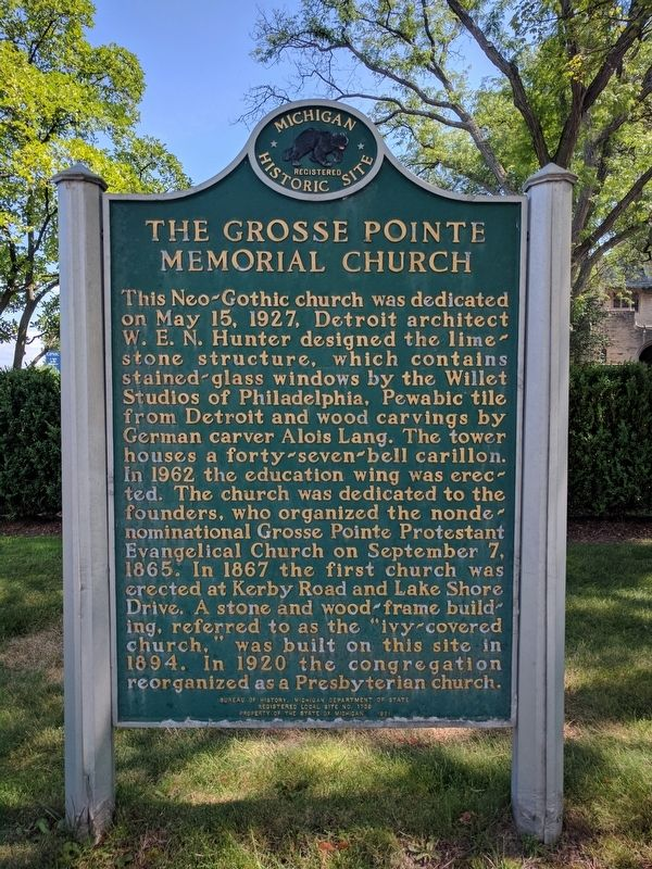 The Grosse Pointe Memorial Church Marker image. Click for full size.