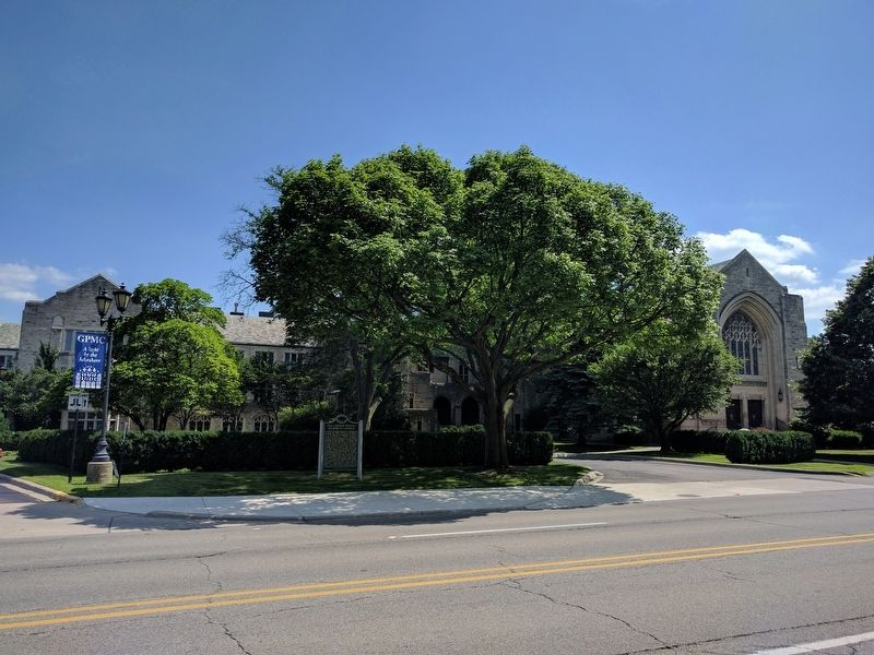 The Grosse Pointe Memorial Church and Marker image. Click for full size.