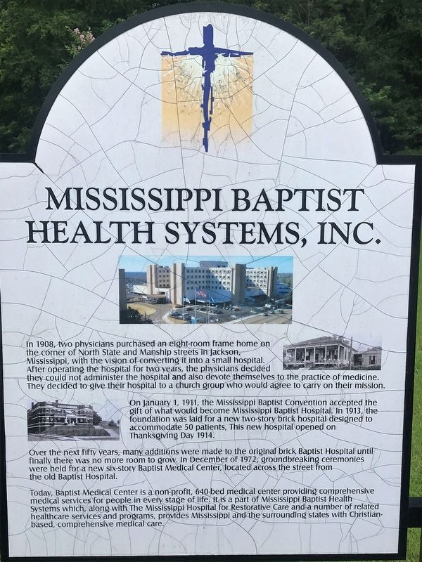 Mississippi Baptist Health Systems, Inc. Marker image. Click for full size.