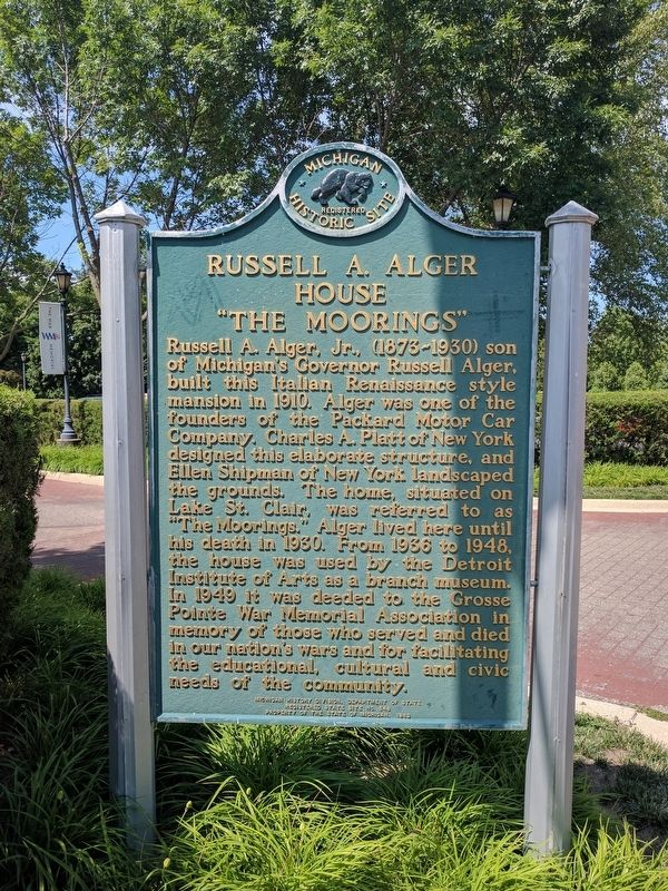 "Russell A. Alger House ""The Moorings"" Marker image. Click for full size."