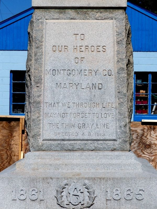 The Confederate Monument Marker image. Click for full size.