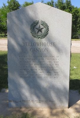 Yellowhouse Canyon Marker image. Click for full size.