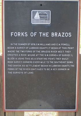 Forks of the Brazos Marker image. Click for full size.