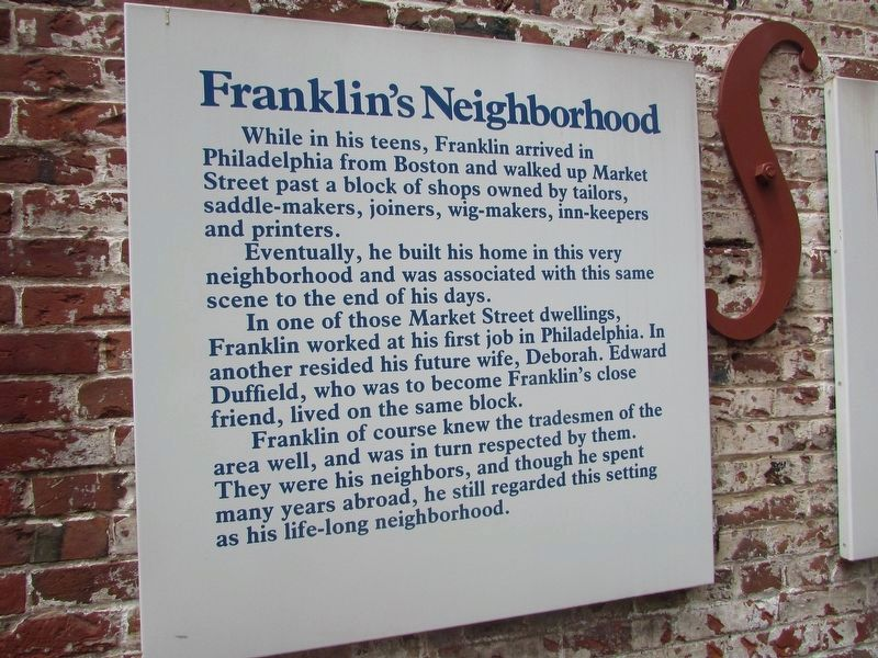 Franklin's Neighborhood Marker image. Click for full size.