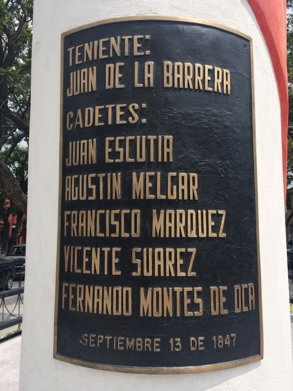 The Children Heroes of the Battle of Chapultepec Marker image. Click for full size.