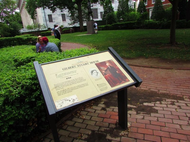 Gilbert Stuart House Marker image. Click for full size.