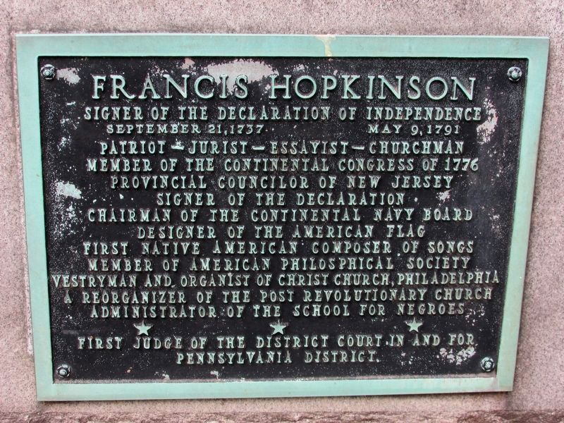 Francis Hopkinson Marker image. Click for full size.