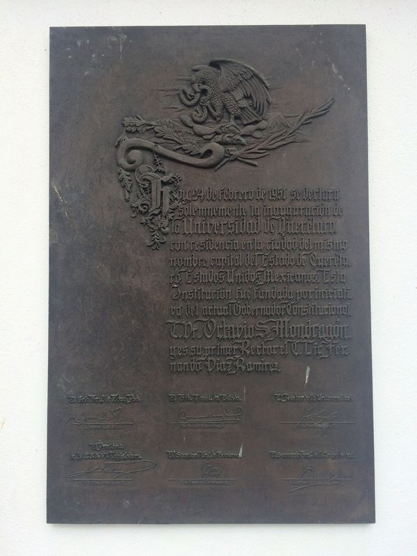 Founding of the Autonomous University of Querétaro Marker image. Click for full size.
