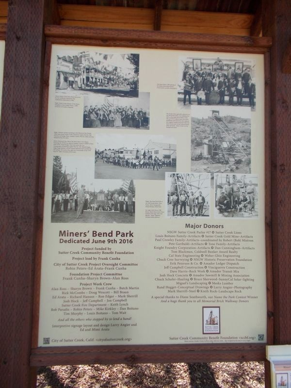 Miners' Bend Park Marker - Right Panel image. Click for full size.