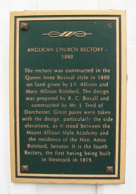 Anglican Church Rectory Marker image. Click for full size.
