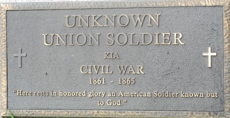 Unknown Union Soldier Marker image. Click for full size.