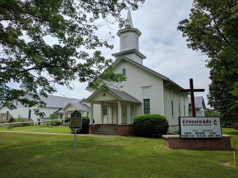 Williamston Center United Methodist Church and Marker image. Click for full size.