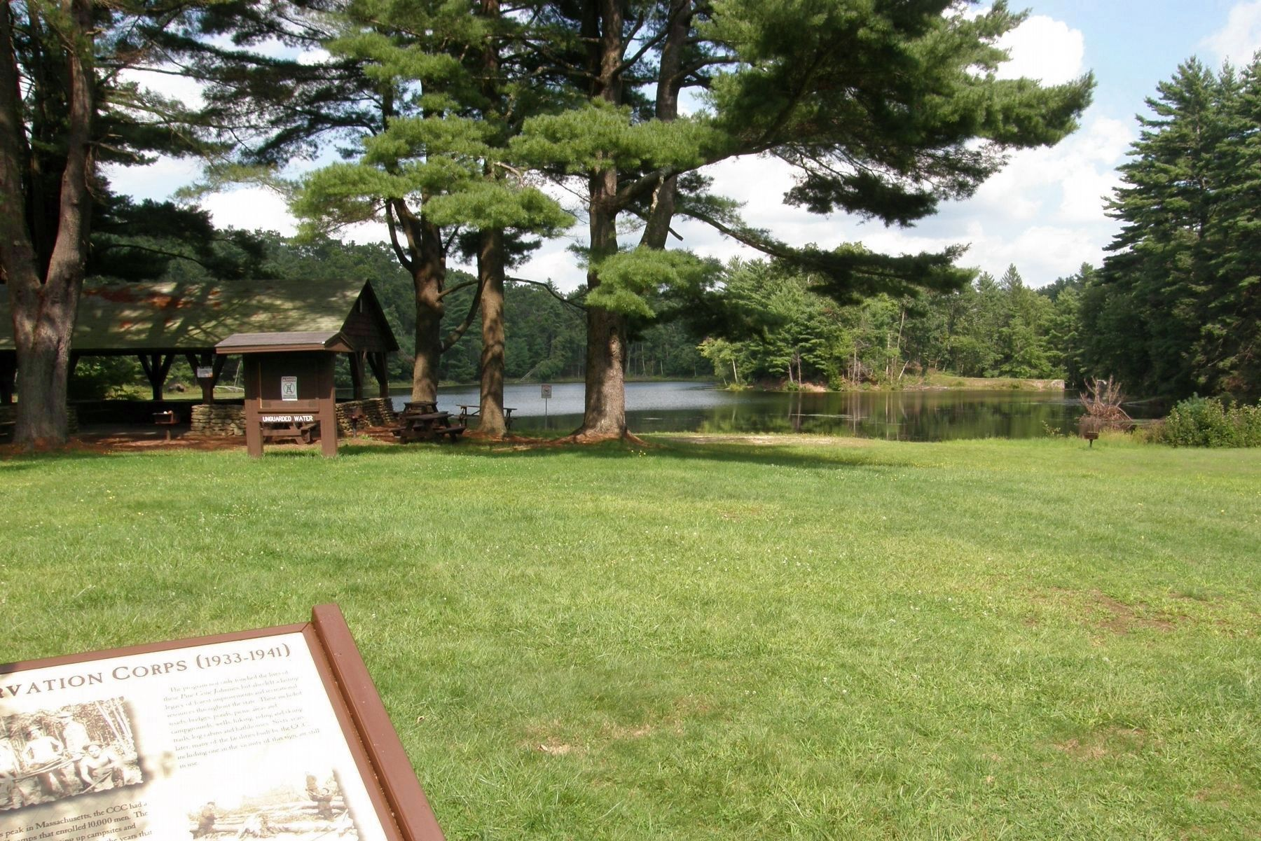 Dean Pond and the CCC cabin image. Click for full size.