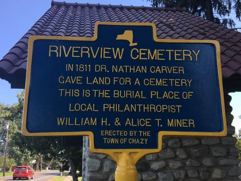 Riverview Cemetery Marker image. Click for full size.