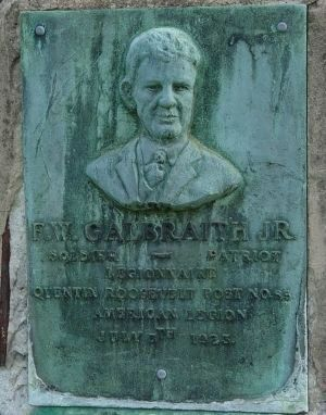 F.W. Galbraith, Jr. Marker in Greenville, SC image. Click for full size.