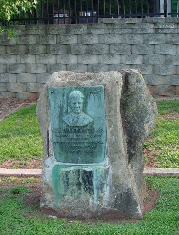 F.W. Galbraith, Jr. Marker in Greenville image. Click for full size.
