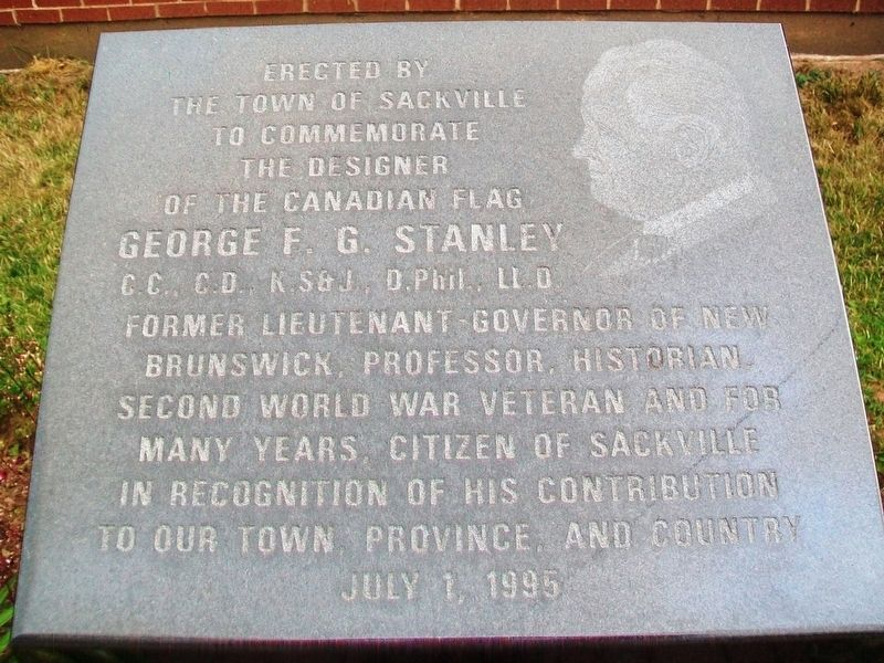 George F. G. Stanley Marker image. Click for full size.