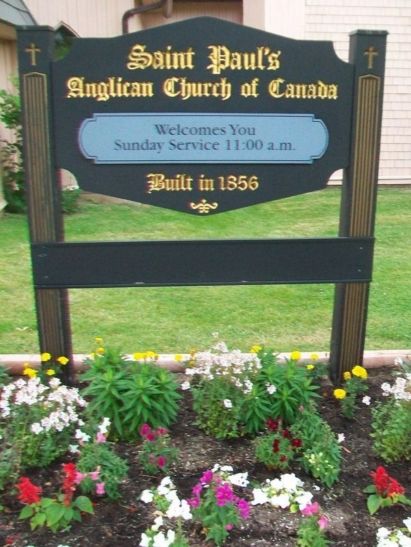 St. Paul's Anglican Church Sign image. Click for full size.