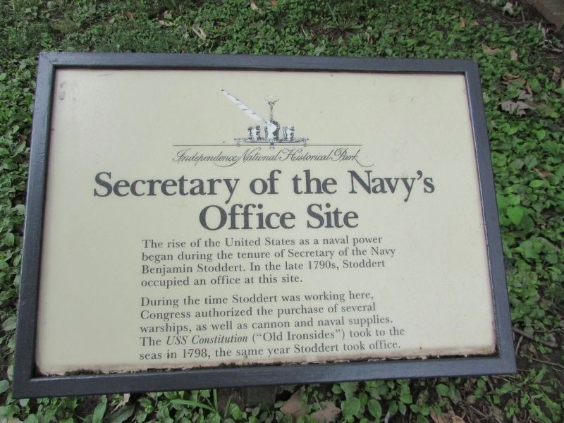 Secretary of the Navy's Office Site Marker image. Click for full size.