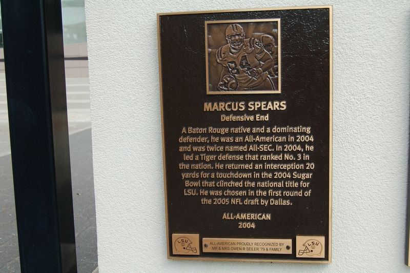 Marcus Spears Marker image. Click for full size.