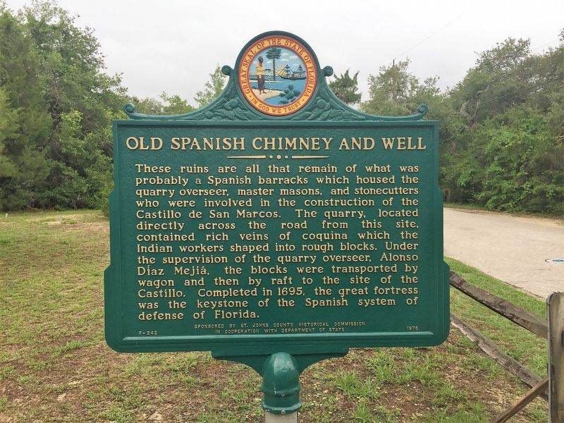 Old Spanish Chimney and Well Marker image. Click for full size.