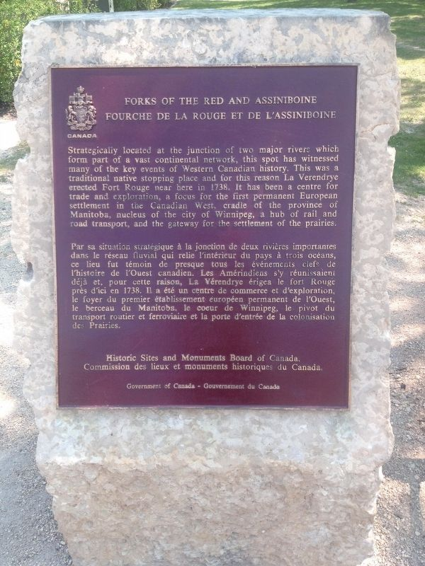 Forks of the Red and Assiniboine Marker image. Click for full size.