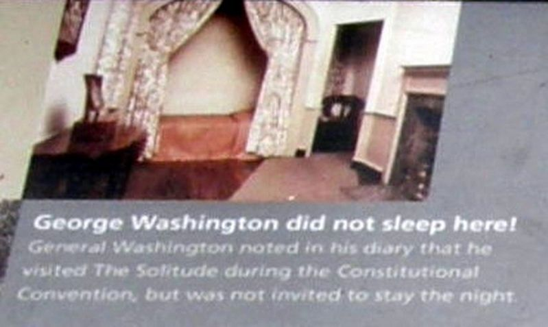 "Insert - ""George Washington did not sleep here!"" image. Click for full size."