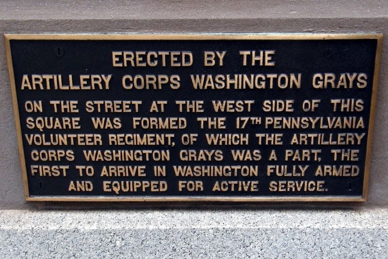 Artillery Corps Washington Grays Marker image. Click for full size.