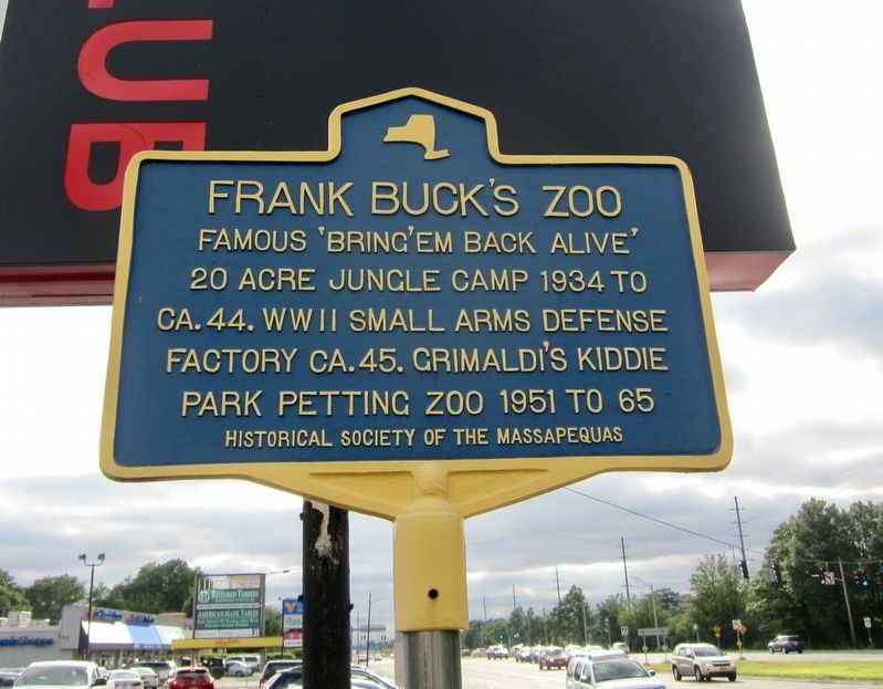 Frank Buck's Zoo Marker image. Click for full size.