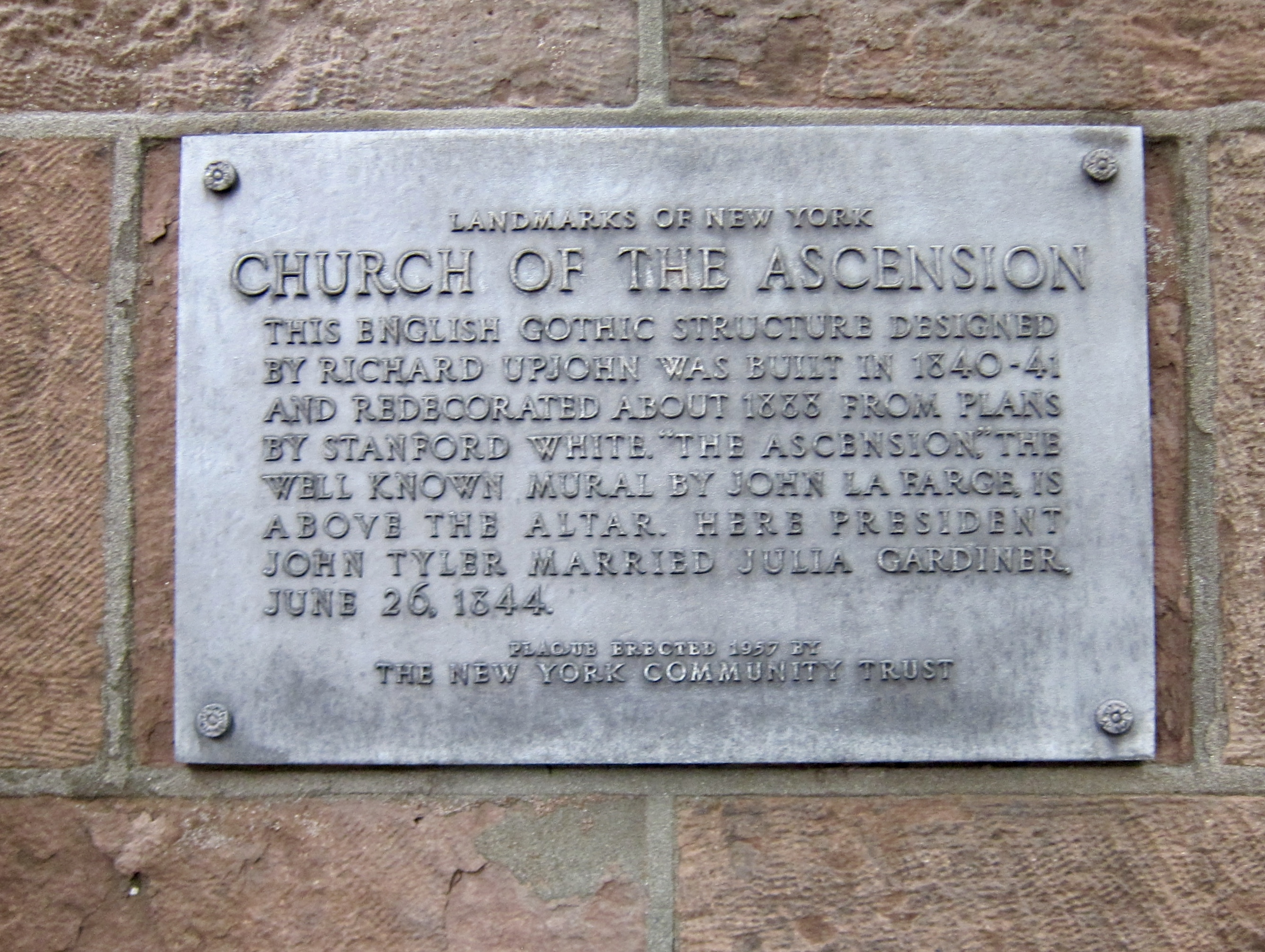 Church of the Ascension Marker
