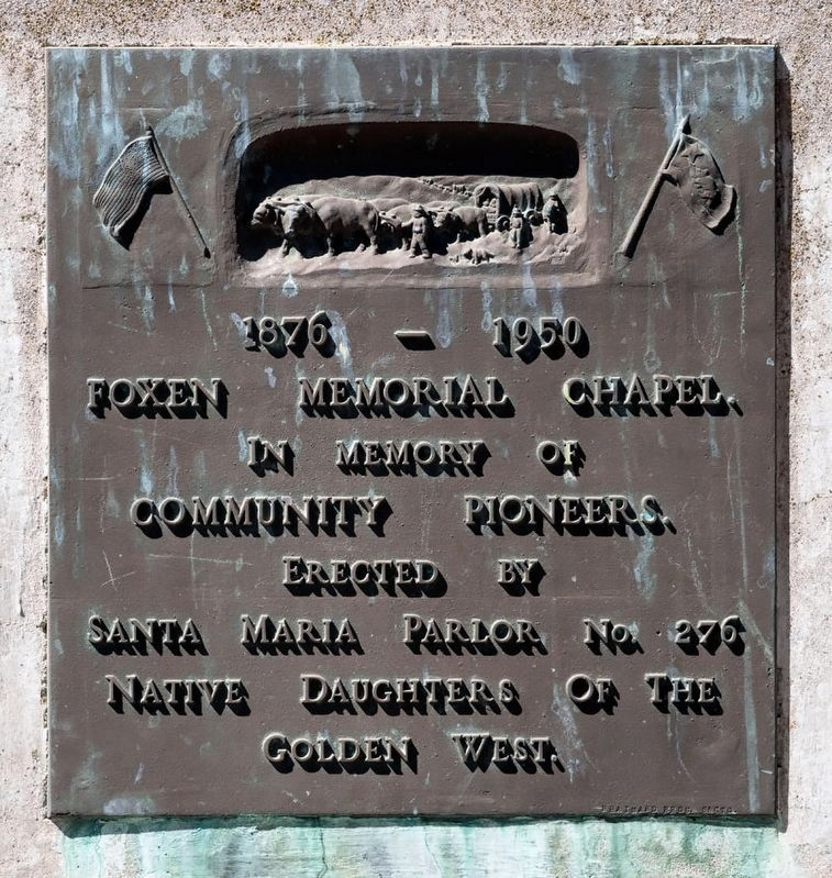 Foxen Memorial Chapel Marker image. Click for full size.