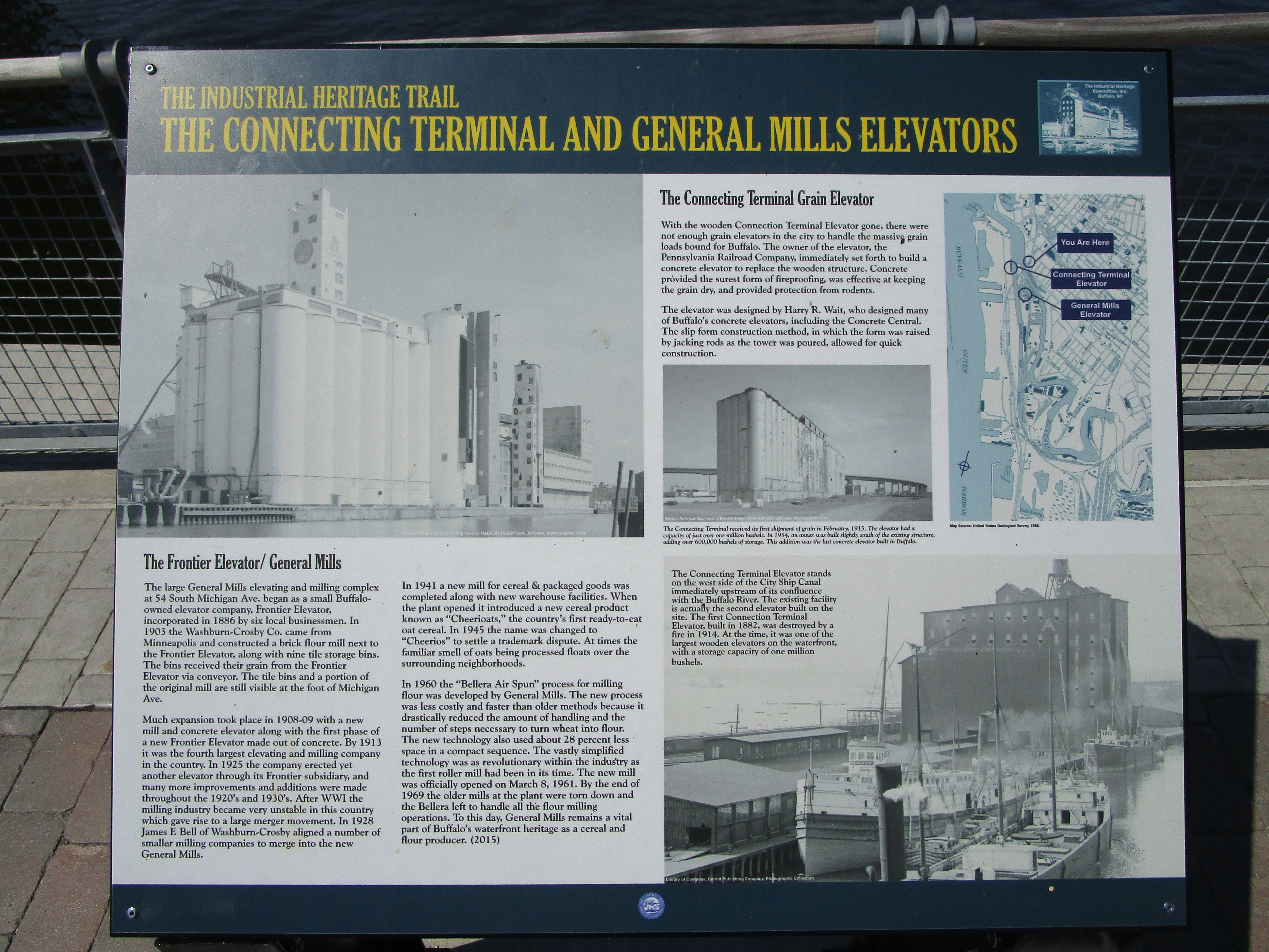 The Connecting Terminal and General Mills Elevators Marker