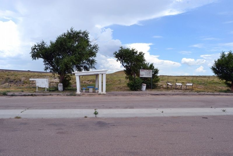Santa Fe Trail Markers at Roadside Picnic Area image. Click for full size.
