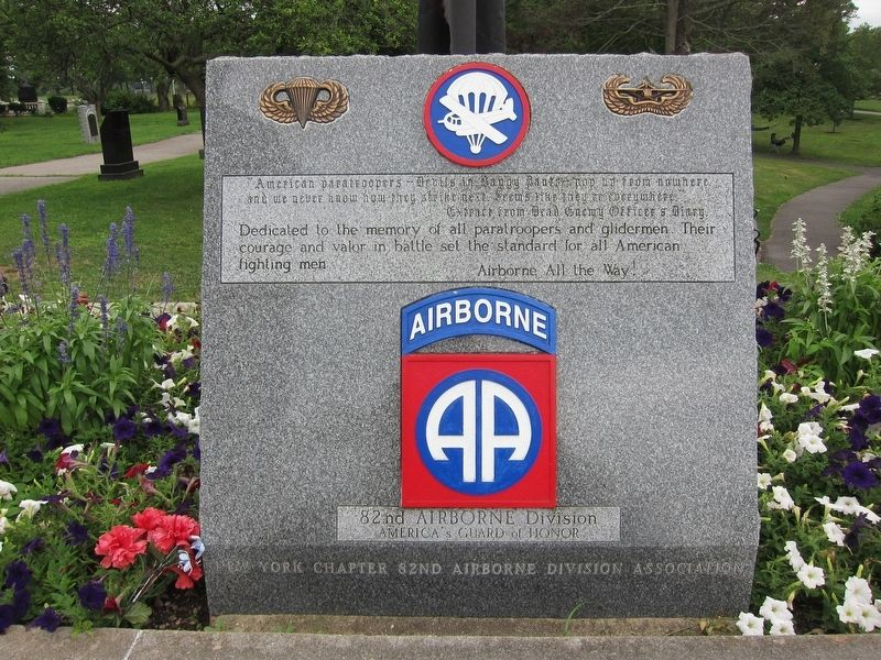 82nd Airborne Division Marker image. Click for full size.