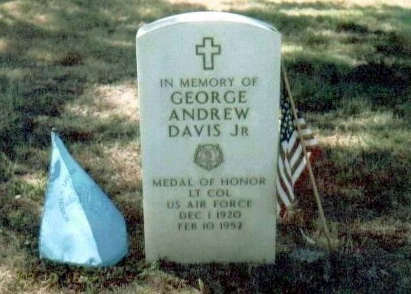 Major George A. Davis, Jr-Korean War Congressional Medal of Honor Recipient (IMO) marker image. Click for full size.